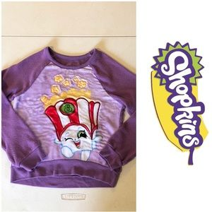 Shopkins fleece sweater with popcorn Size 7/8